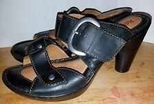 "Born Women's Brown Leather 4"" Heel Mules Size 8-(USA) 39-(Euro)"