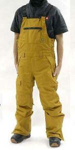686 Men Hot Lap Insulated Bib (L) Golden Brown M0W209-GLDB
