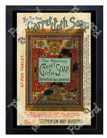 Historic Peerless Carpet & Cloth Soap 1890s Advertising Postcard