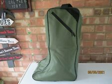Large Green Wellington Welly Boot Storage Bag Muddy Hunting/Hiking/Fishing - New