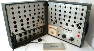 B&K Dyna-Quik 650 Tube and Transistor Tester w/ 610 test panel and instructions