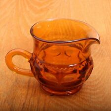 Amber Indiana Glass Company Kings Crown Thumbprint Creamer Pitcher