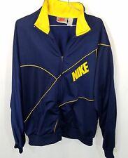 Nike Gray tag track jacket mesh/poly navy/yellow 90s szXL michigan vintage ncaa