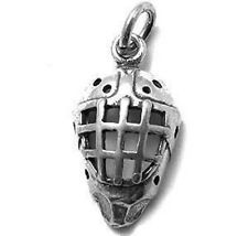 925 Sterling Silver 3D Hockey Mask Charm