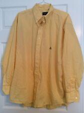 GITMAN BROS. MEN'S XXL SHIRT 100% Cotton Long Sleeve Yellow White Micro Check