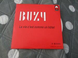 """CD SINGLE 5 TITRES """"BUZY : LA VIE C'EST COMME UN HOTEL (5 MIXES)"""""""