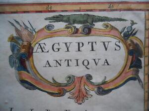 Map, Alexandrian Egypt, Pierre Duval c.1670, Aegyptus Antiqua Antique Original >