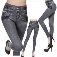 Damen Jeans Stretch Hose Stoffhose Skinny Leggings Leggins Treggings Jeggings/