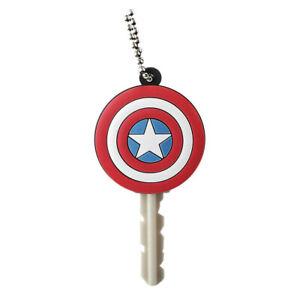Captain America Rubber Key Holder Red