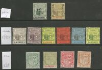 MAURITIUS 1902-10 EVII MINT SELECTION OF 12 CAT £120