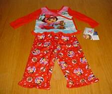 NEW BABY DORA THE EXPLORER PUPPY RED WINTER PAJAMAS PJ'S  INFANT GIRLS 18 MO