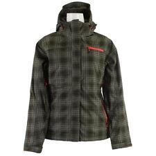 The North Face Lynndale Womens Green Plaid Insulated Hood Ski Winter Jacket XS