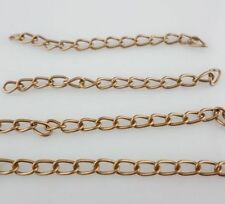 50/100X DIY Bracelets Necklace Extend Chains Extension Link Chain Tail Extender