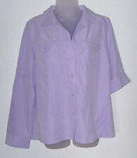 Women's NWT Large purple adjustable long sleeve shirt (Fashion Bug)