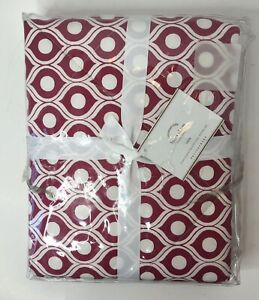 """Pottery Barn Foundations Lucca Euro Sham 26"""" x 26"""" Red White NEW"""