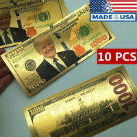 US President Donald Trump New Colorized $1000 Dollar Bill Gold Foil Banknote Lot