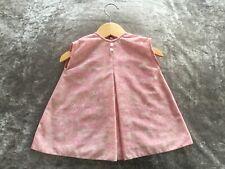 Vintage Original Harrington's Baby Girl  Pink Floral Shift Dress 12/18 month1960