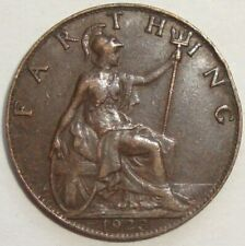 1923 GREAT BRITAIN UK 1 ONE FARTHING GEORGE V WORLD COIN NICE!