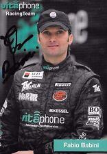 Fabio Babini SIGNED   FIA GT1 Vitaphone Promocard 2004