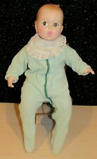 "New ListingVintage Gerber Baby Doll 1979 Flirty Moving Eyes Blue Check Cloth Body Euc 17"""