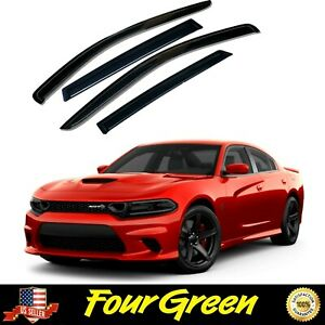 Side Window Sun Visor Rain Guards Deflectors for Dodge 2011 - 2020 Charger