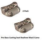 2-Pack Pro Casting Seat Camo Bass Boat Fishing Hunting Lean BackRealtree Max-5