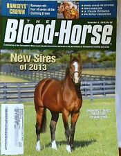 BLOOD HORSE MAGAZINE DECEMBER 8, 2012 NEW SIRES OF 2013