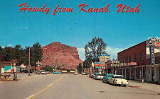 Kanab,Utah,Street Scene,Highway 89,Gas Station,Old Cars,Kane County,Used,1967