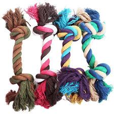 Dog pet jouet en coton tressé corde remorqueur chew knot