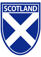 Scottish Car Bumper Window Sticker Decal Andrews Saltire Scotland Shield Flag