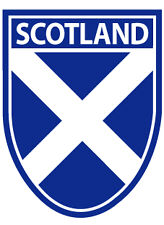Scottish Car Bumper Window Sticker Decal Andrews Saltire Scotland Shield Flag