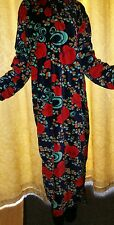 Rose floral ,Warm velour velvet nightdress. Kaftan. Long nightie. dress.   XXL