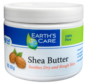 Earth's Care Pure Shea Butter, Hexane-Free, No Dyes or Fragrances, 6 OZ.