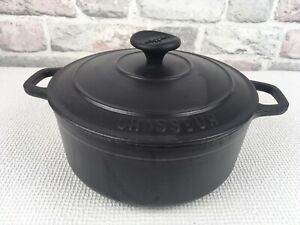 Chasseur Cast Iron Lidded Casserole Dish Black Size 20 Made In France 3.5kg