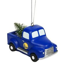Golden State Warriors Truck with Tree Christmas - Tree Holiday Ornament