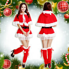 5Pcs Sexy Women Christmas Suit Fancy Costumes Dress Party Cosplay Clothes Hot
