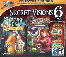 Mystery Masters Secret Visions 6 Pack PC Games Windows 10 8 7 XP Computer Games