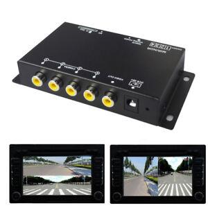 PAL/NTSC Car Camera VCR Image 4-Way Split-Screen Remote Control 360° Monitoring