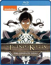 THE LEGEND OF KORRA : COMPLETE SERIES 1 2 3 & 4  -  Blu Ray - Sealed Region free