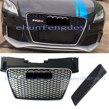 Gloss Honeycomb RS-TT Style Front Bumper Grille Grill for AUDI TT 8J 2008-2012