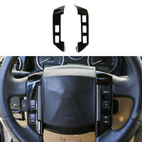 For LandRover Discovery 3 2004-2009 Gloss Black Steering Wheel Button Frame Trim