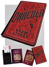 Porta Pasaporte-Drácula Bram Stoker-Libro Cubierta De Diseño-Imitación de Cuero Funda Cubierta