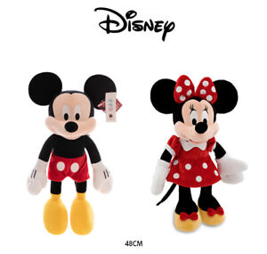 Mickey & Red Dress Minnie Mouse Authentic Disney Plush 48cm Kid Soft Stuffed Toy