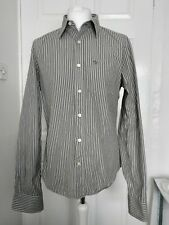Extra Large Abercrombie & Fitch Men's Muscle Fit Shirt XL Grey Striped