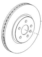 Vauxhall Disque de Frein - Neuf D'Origine - 13502059