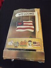 New Welcome Sign Set Seasonal Holiday Door Wall Wood Plaque Home Décor~NeW