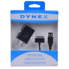 DYNEX WALL CHARGER AND CABLE 5W USB 30PIN for iPod, iPhone and iPad