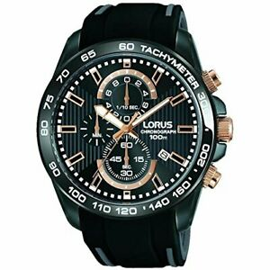 Lorus Sport Black Rubber Men's Chronograph RM317DX9