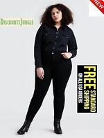 jack David Stretch BLACK premium denim jeans WOMENS PLUS SIZE pants SKINNY LEG