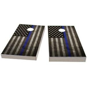 American Flag Thin Blue Line Cornhole Boards - The Perfect Christmas Gift